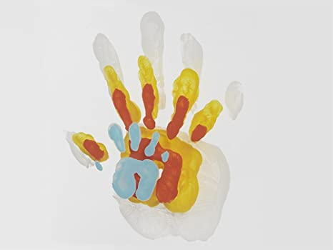 Baby Art Family Touch Bilderrahmen mit Familien Handabdruck als ...