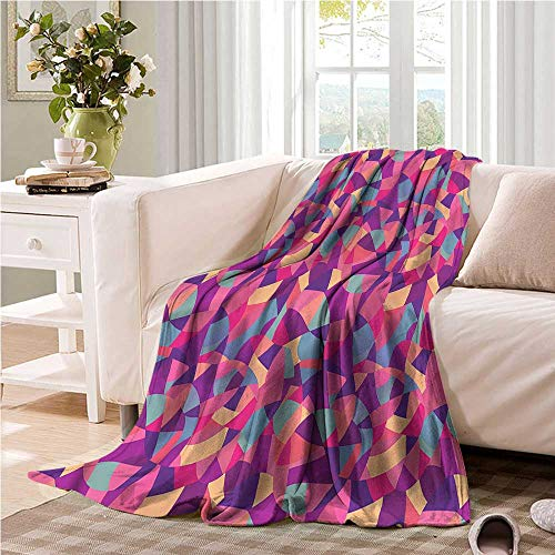 Oncegod Sofa Cushion Patchwork Stained Glass Mosaic Tile Blanket on Bed Sofa Bedding 91