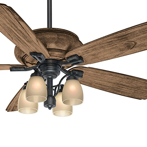 Casablanca 60 inch Transitional Ceiling Fan with 4 Lights and Wall Control in Brown Tahoe Finish (Certified ()