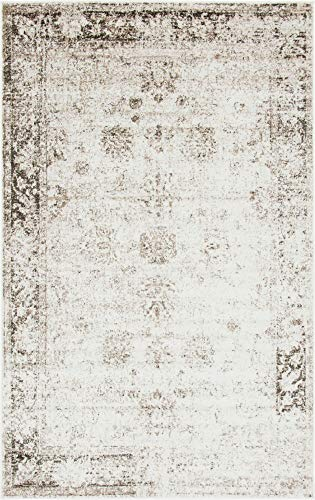 Unique Loom 3134038 Area Rug, 5' x 8' Rectangle, Beige