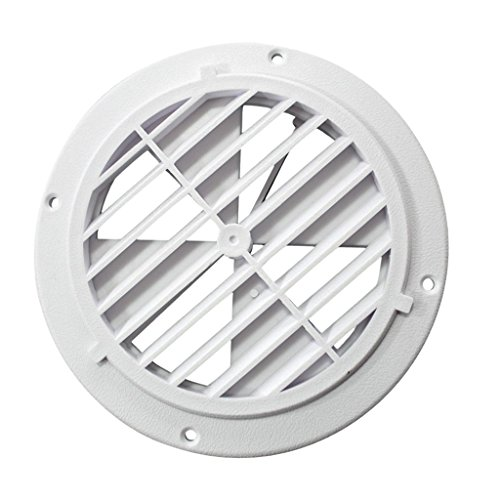 Homyl Circle Air Vent Grille Cover WHITE Ducting Ventilation Grill Cover
