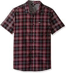 Volcom Men's Kane Short Sleeve Shirt, Blue Fog, X-Small