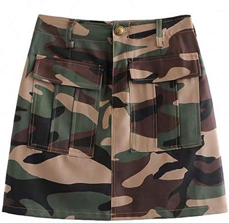 FSDFASS Faldas Camuflaje Elegante de Estilo Vintage Mini Falda Una ...