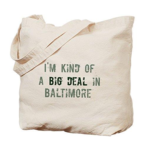 CafePress - Big Deal In Baltimore - Natural Canvas Tote Bag, Cloth Shopping - Baltimore Shopping