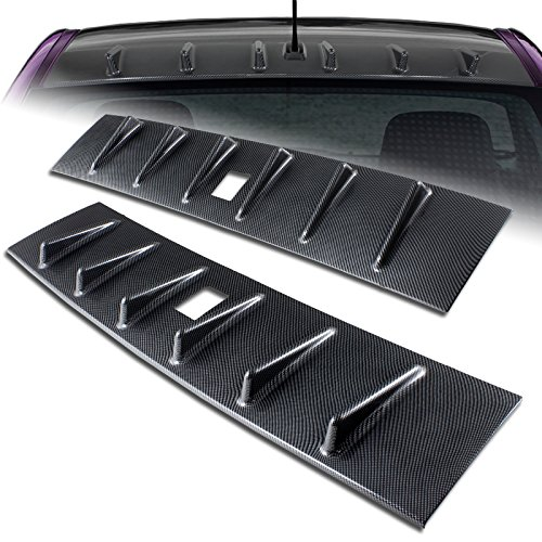 Lancer EVO X Carbon Fiber Look Vortex Shark Rear Roof Spoiler Wing (Mitsubishi Evo 8 Carbon Fiber)