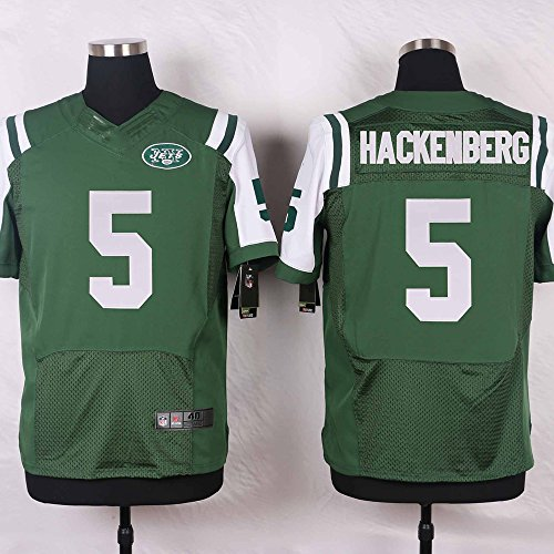 Nopzzor Men's #5 Christian-Hackenberg Embroidery New York Football Jersey (Green,XL)