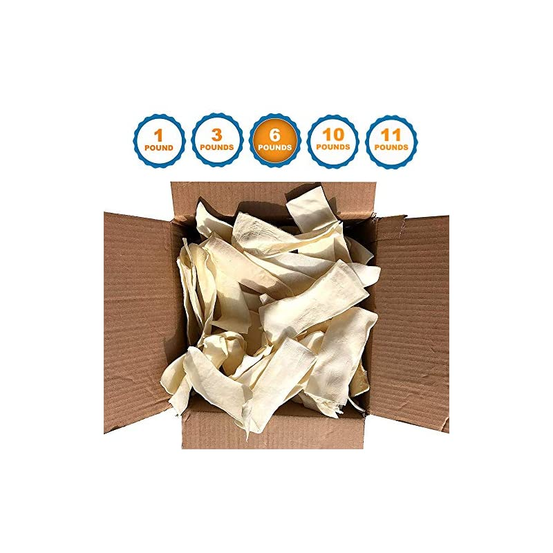 dog supplies online 123 treats - rawhide chips for dogs (6 pounds) quality bulk dog chews - no additives, chemicals or hormones from natural grass fed livestock