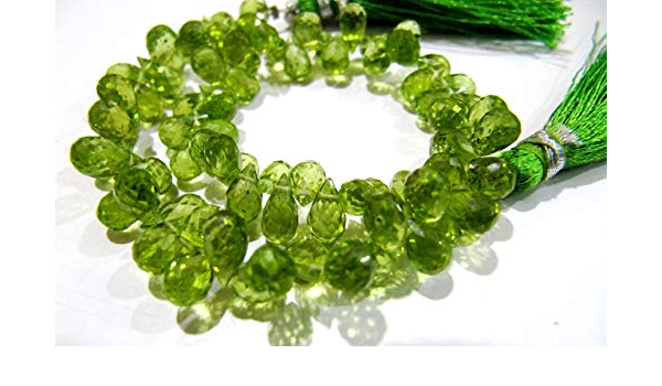 57 Cts Peridot Faceted drops 5 to 6 mm 8Gemstone BeadsSemi Precious BeadsPeridot BeadsPeridot Faceted Drops