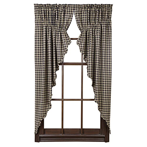 VHC Brands Classic Country Primitive Window Curtains - Check