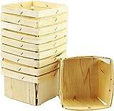 Berry Baskets Wooden 1 Quart (10 Pack)
