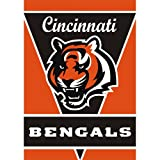 Fremont Die Cincinnati Bengals 28x40 Satin Polyester Wall Banner