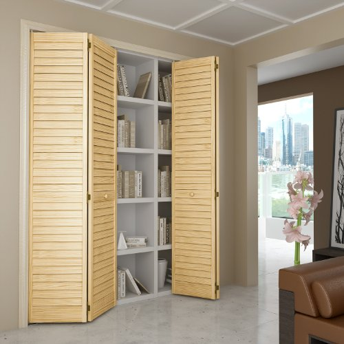 Door Fold Bi Sizes - Closet Door, Bi-fold, Louver Louver Plantation (36x80)