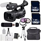 JVC GY-HM600 GYHM600 ProHD Handheld Camera Camcorder (International Model no Warranty) + 64GB SDXC Class 10 Memory Card + 72mm 3 Piece Filter Kit 6AVE Bundle 4