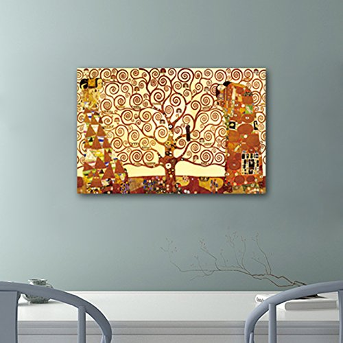 6aa491de00f Amazon.com  Wieco Art Tree of Life Large Canvas Prints Wall Art by Gustav  Klimt Classical Oil Paintings Love Pictures Decor for Living Room Bedroom  Home ...
