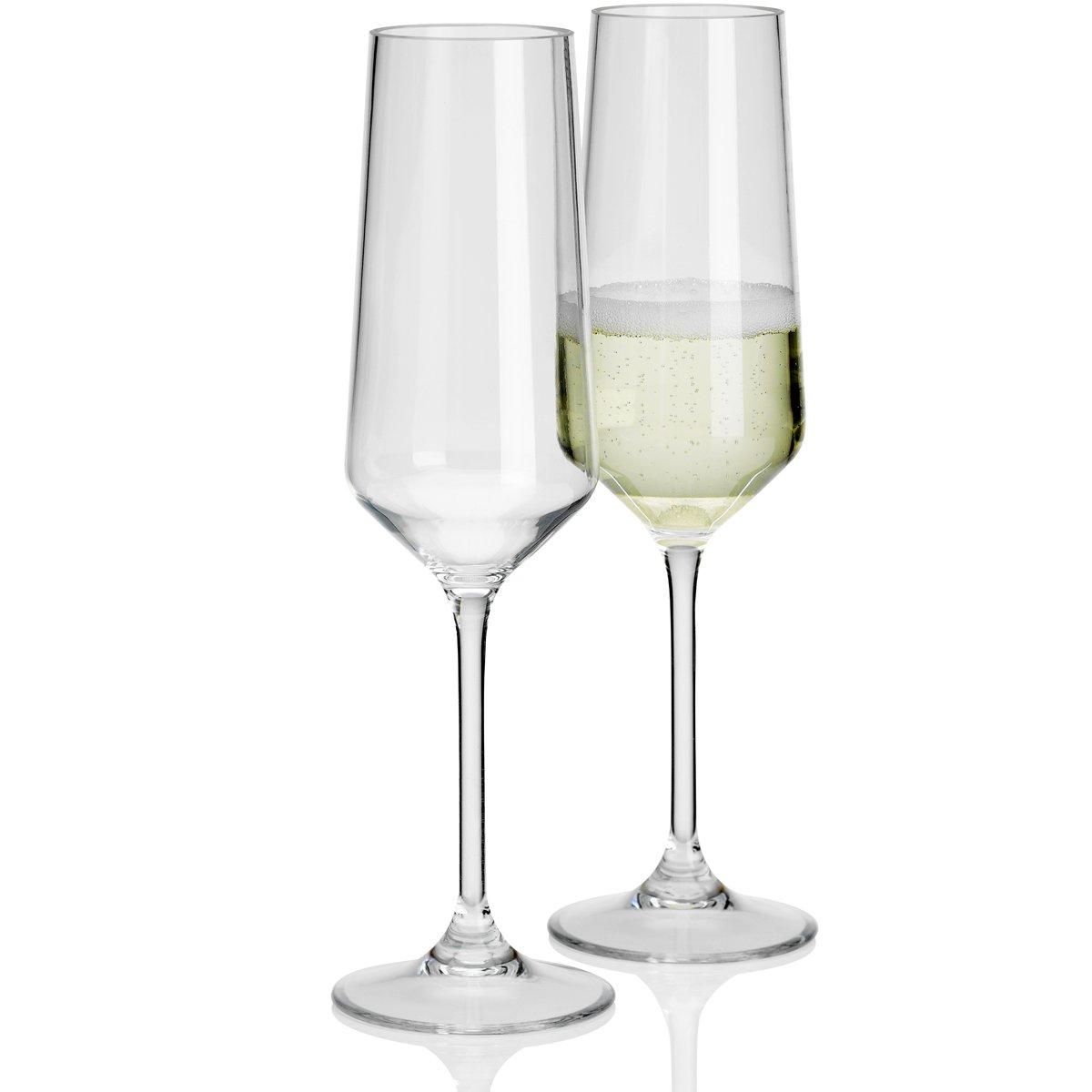 2X Camping Polycarbonat 290ml Gläser Trink Glas Kunststoff Wasserglas bruchfest