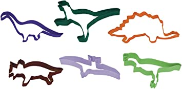 YOUDirect Dinosaur Cookie Cutters 3 Sets of T-Rex Stegosaurus Triceratops Dinosaur Cookie Molds and Stencils for Kids DIY Baking Cake Fondant//Biscuit//Play Dough