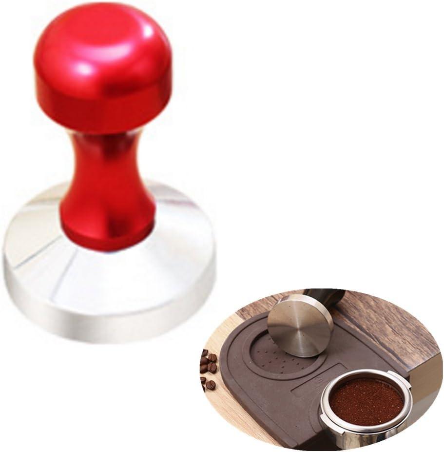 chytaii Presse zu Kaffee Espresso Tamper Sabotage f/ür Edelstahl Kaffeemaschine Oberfl/äche flach 58/mm 1#