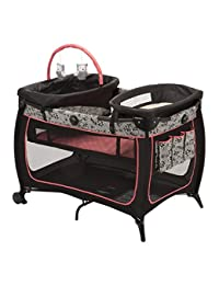 Safety 1st Safe Stages Play Yard Gentle Lace Black/Grey BOBEBE Online Baby Store From New York to Miami and Los Angeles