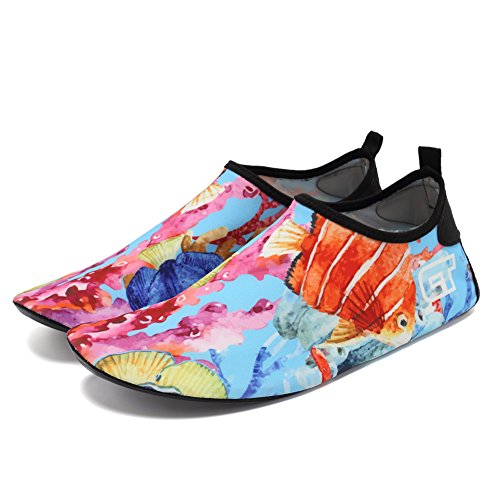 CIOR Men Women and Kids Water Shoes Barefoot Skin Shoes Anti-Slip For Beach Pool Surf Swim Exercise Sneaker Flower 03 5VppG