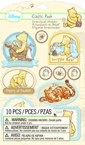 EK Success Disney Dimensional Stickers, Classic Pooh Boy