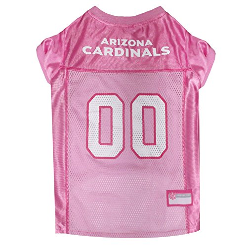 Pets First NFL Arizona Cardinals Pet Jersey, Pink, Medium