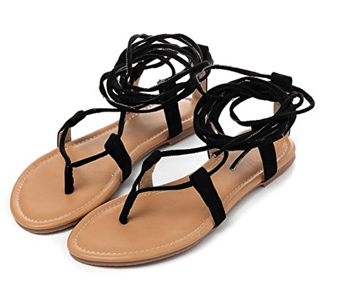 Bondage Thong Flip Black Robert Suede Nubuck Summer Flops Leather Sandals Westbrook gqnfRwHt