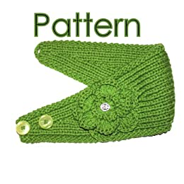 Knitting Pattern Central Headbands : Headband Knitting Pattern With Crochet And Knitted Flower