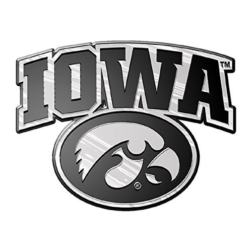 NCAA Iowa Hawkeyes Chrome 3D for Auto Car Truck Emblem Decal Sticker College Officially Licensed Team Logo