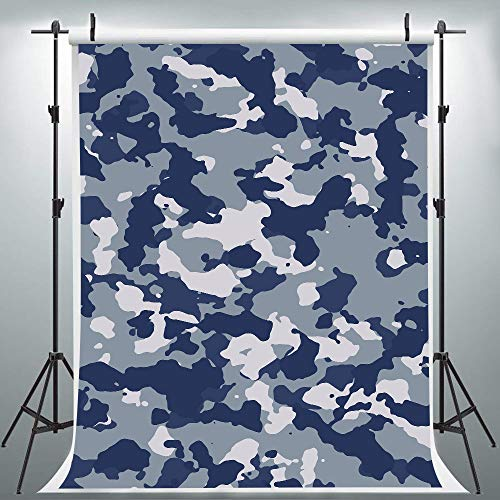 Army MAPA Woodland Camouflage Backdrop for Photography, 6x9FT, Stylish Camo Background, Makeup Step and Repeat Banner Props - Spider Woodland