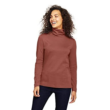 db1d119878 Lands  End Women s Supima Cotton Turtleneck at Amazon Women s Clothing  store