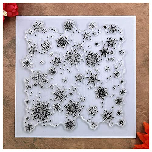 s Snowflake Background Clear Stamps for Card Making Decoration and DIY Scrapbooking ()