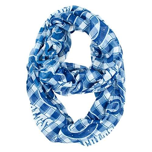 NFL Indianapolis Colts Sheer Infinity Plaid Scarf by Littlearth