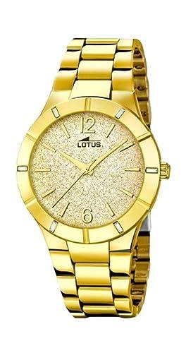 Lotus Reloj Analógico para Mujer de Cuarzo con Correa en Acero Inoxidable 18612/2: Amazon.es: Relojes