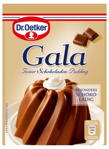 Dr. Oetker Gala Pudding-Pulver Schokolade, 10er Pack (10 x 3 x 0.5 l Beutel)