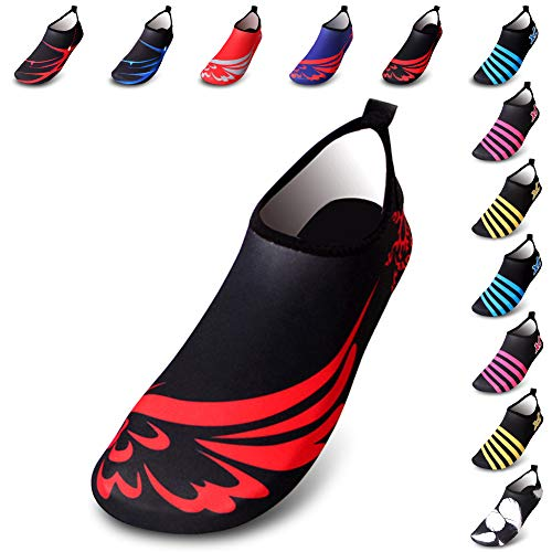 AGOLOD Water Shoes Mens Womens Barefoot Shoes Beach Snorkeling Swimming Quick Drying Slip On Yoga Shoes