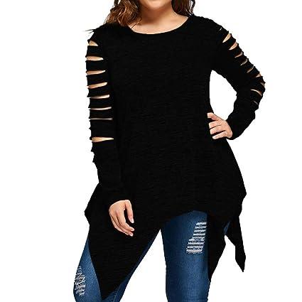 dcae6db0b4bf54 Amazon.com: Women's Plus Size Shirts, Jiayit Womens Pluuover Tops Long  Sleeve Fashion Casual Blouse T-Shirt Blouse Oversized Tank Tops: Sports &  Outdoors