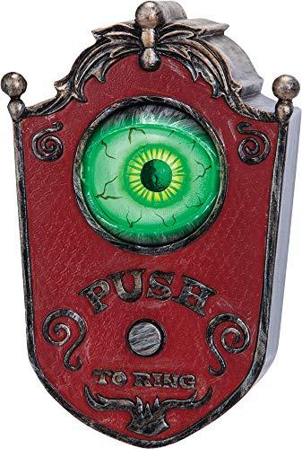 Animated Eyeball Doorbell Creepy Theme Party Halloween Wall Decoration -
