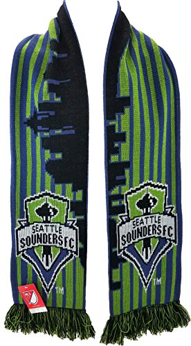 fan products of MLS Seattle Sounders FC Striped Skyline Soccer Scarves, Green, One Size