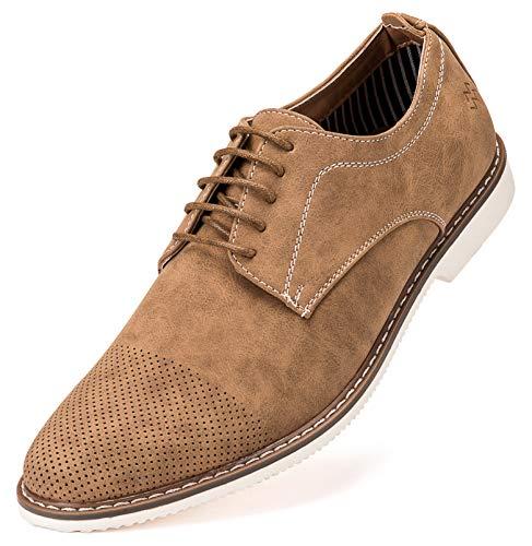 Marino Avenue Mens Casual Shoes, Suede Business Dress Shoes for Men - Aztec Gold Tan - 9 D(M) US