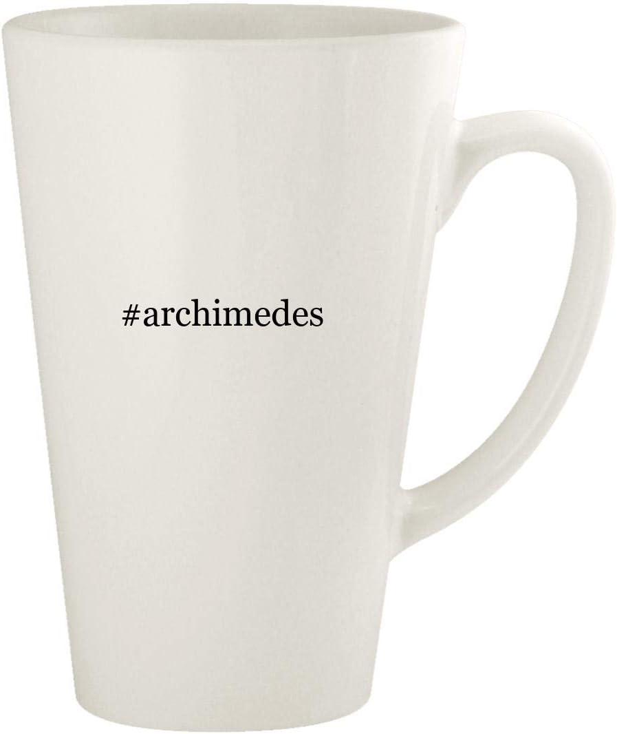#archimedes - 17oz Hashtag Ceramic Latte Coffee Mug Cup, White