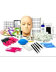 mcwdoit Lash Wimperuitbreidingskit, Professionele Mannequin Hoofdtraining voor beginners Wimpers Extensions Praktijk Cosmetologie Schoonheidsspecialiste Benodigdheden