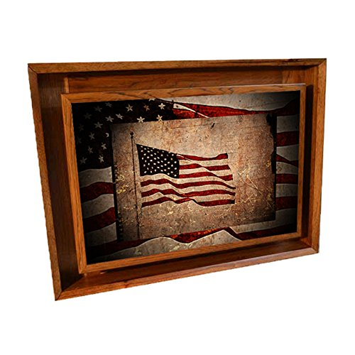 Superieur Amazon.com: Stealth Furniture Hidden Compartment Picture  Wall Mounted Type  1  Small (Dark Hickory  American Flag): Home U0026 Kitchen