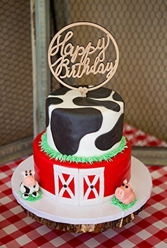 Amazon Birthday Cake Topper Western Farm Barn