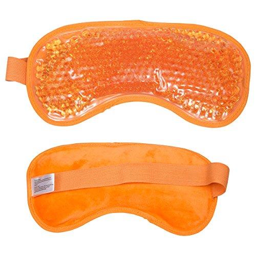 (Ariel EDGE Plush Hot/Cold Eye Mask (Pastel Orange) ★ 8 COLORS AVAILABLE ★)
