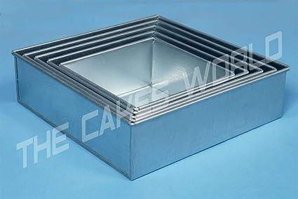 Euro Tins - 5 moldes cuadrados para pastel de boda – 5 Unidades