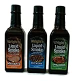 Wright's Liquid Smoke Applewood,Hickory & Mesquite (3 Pack) 3.5 oz