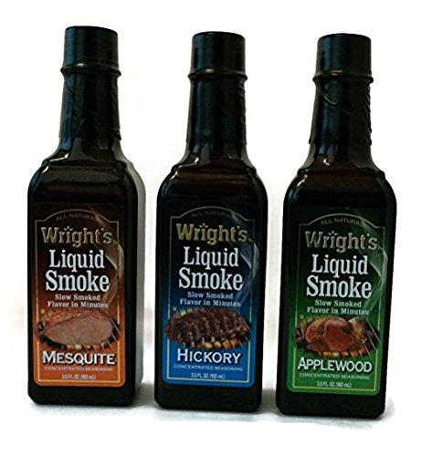 Wright's Liquid Smoke Applewood,Hickory & Mesquite (3 Pack) 3.5 ()