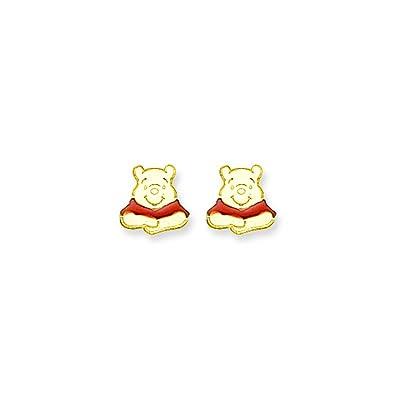 b80b66a7e Amazon.com: 14k Disney Winnie The Pooh Earrings: Stud Earrings: Jewelry
