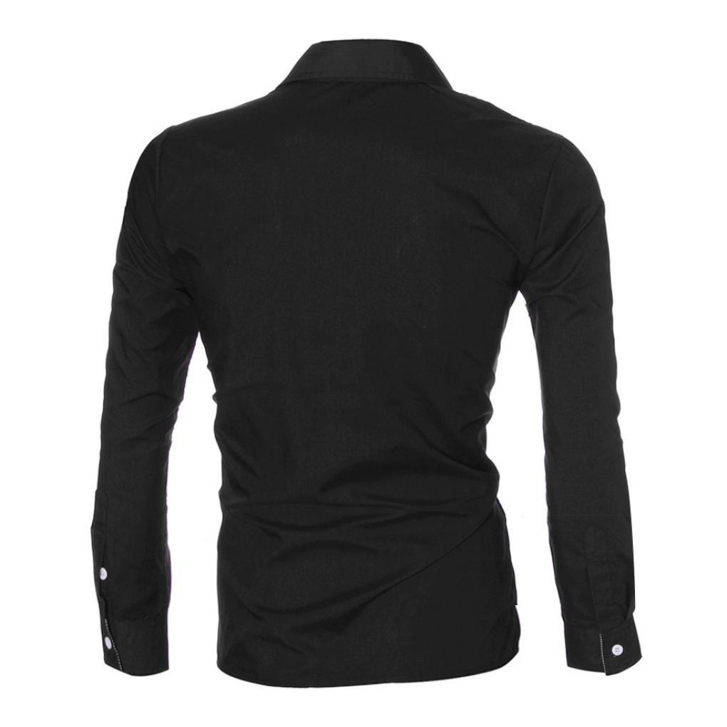 Manadlian Camisas de Manga Larga para Hombres de Moda Camisas Slim Fit Camisa Hombre