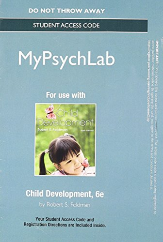 NEW MyPsychLab without Pearson eText -- Standalone Access Card -- for Child Development (6th Edition)